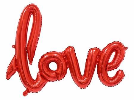 """Balon foliowy """"Napis LOVE"""", czerwony, 68 cm FG-K68NLO"""