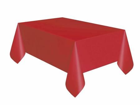Obrus plastikowy, czerwony, 137x274 cm 50353