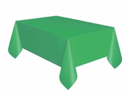Obrus plastikowy, zielony, 137x274 cm 50359