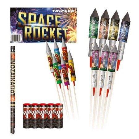Zestaw fajerwerków Space Rocket TXR088