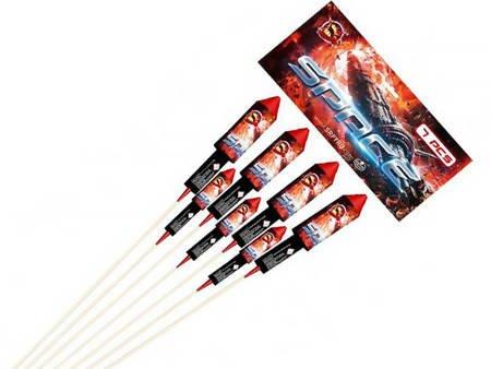 Zestaw rakiet SPACE CLE8021-2592 - 7 sztuk
